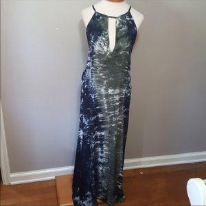 Blue Moon Tie Dye Beach Vacation Maxi Dress